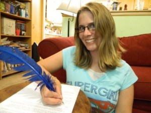 Signing my first book contract!
